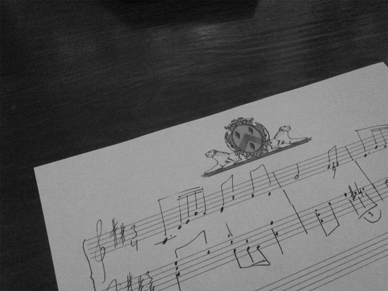papier musique personnalisé